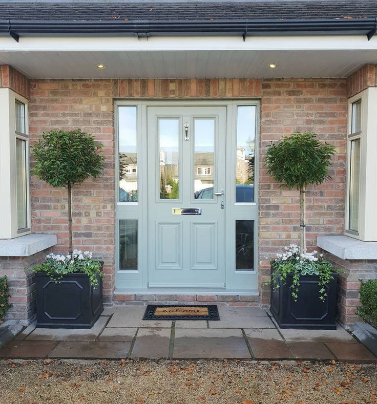Pin By Lorna Macdougall On Garage Plans: Front Door Before/after. Planters. Filler, Spiller