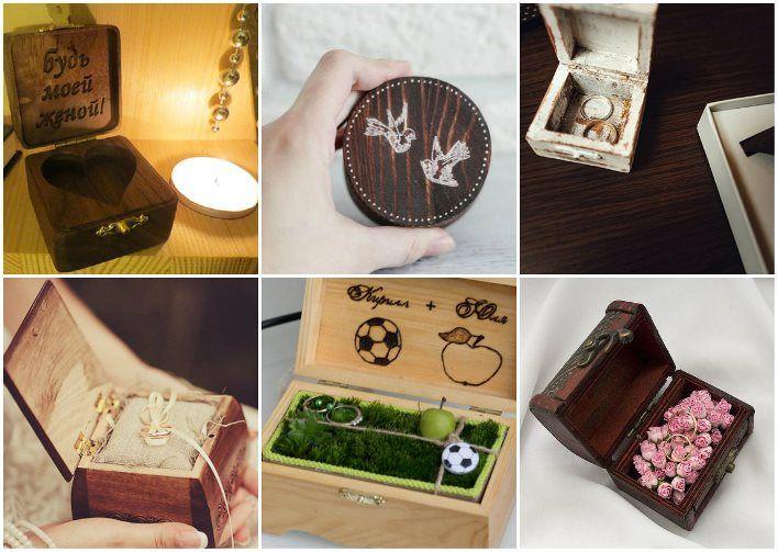 Деревянная шкатулка под кольца