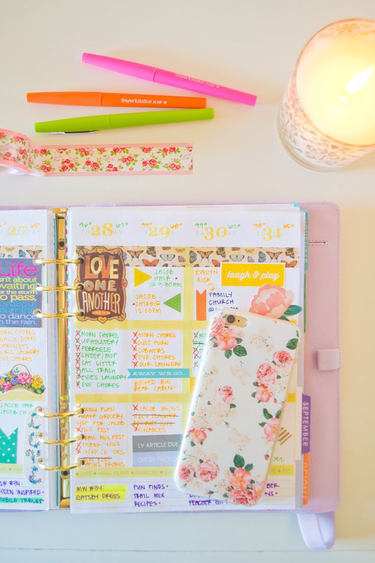 Our Holly Days   How I repurpose the Erin Condren Life Planner morning / day / night boxes #eclifeplanner