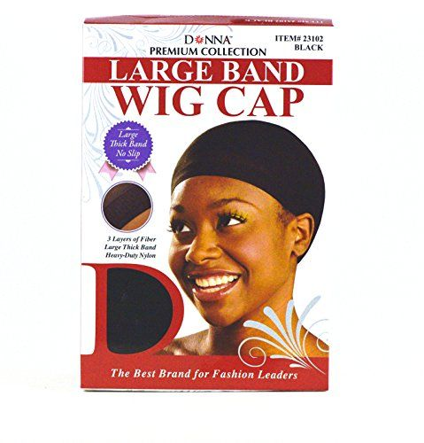 Donna Premium Collection Large Band Wig Cap Black 100 pieces 23102 ** You can find more details by visiting the image link.(This is an Amazon affiliate link)