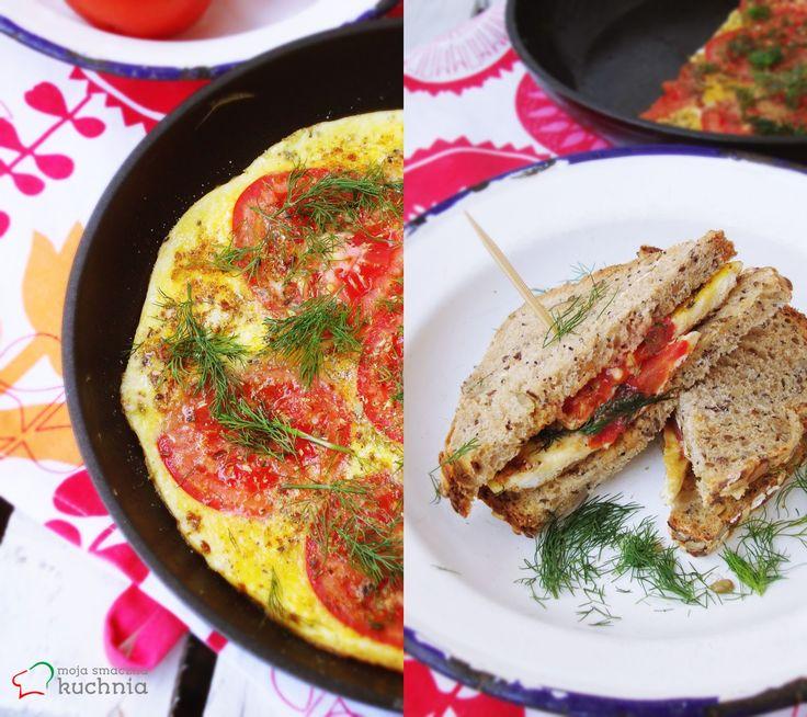 moja smaczna kuchnia: Frittata z pomidorami i ziołami
