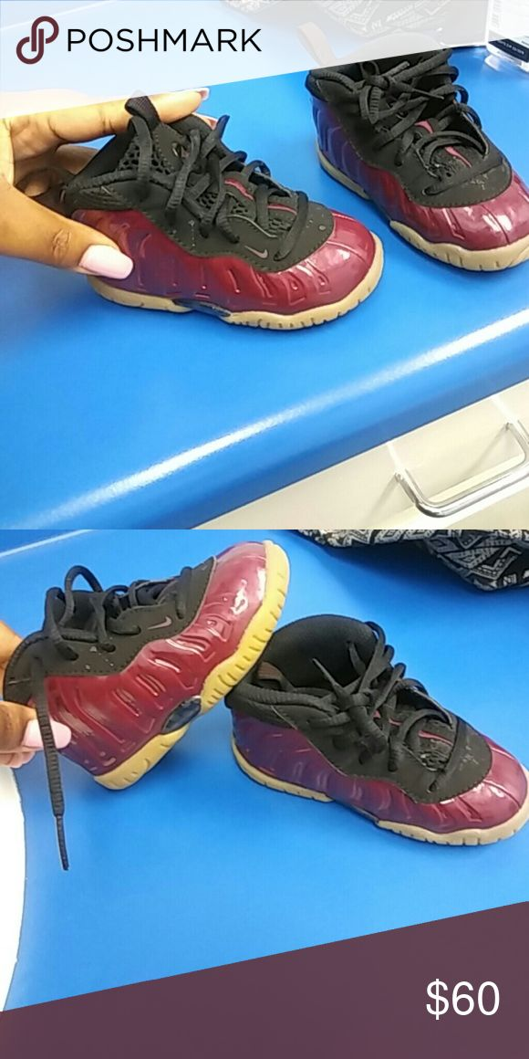 Burgundy foam posites Foam posite bundle deal 2 for 1 Burgundy and black foams with peanut butter bottom price include yellow and black pair as well Nike Shoes