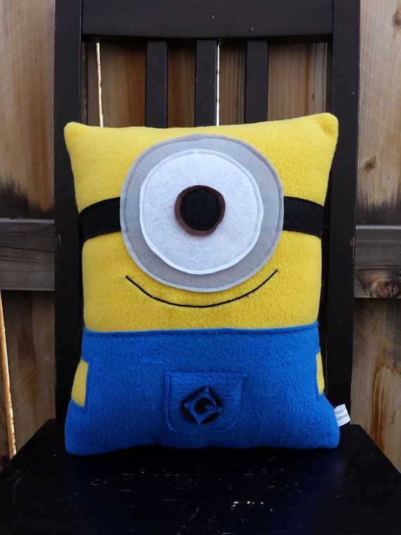 minion pillow by telahmarie on Etsy