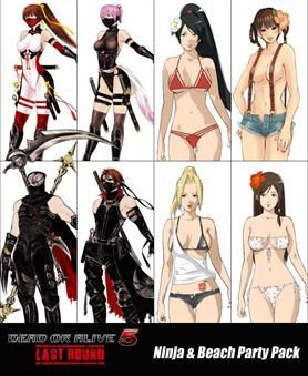 Dead or Alive 5 Last Round Ninja & Beach Party Pack - available to order at PropelGamer.co.uk