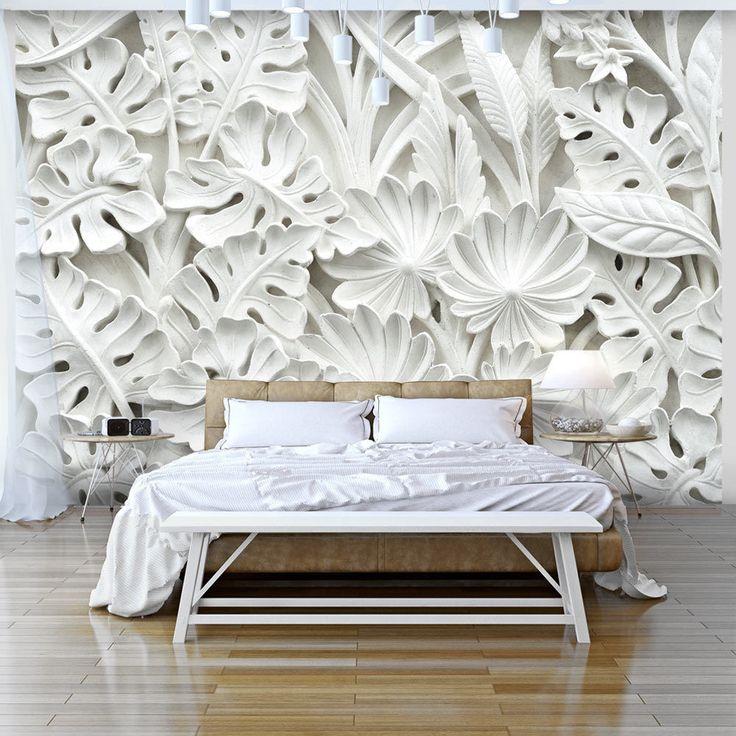 die besten 25 bl tter tapeten ideen auf pinterest. Black Bedroom Furniture Sets. Home Design Ideas