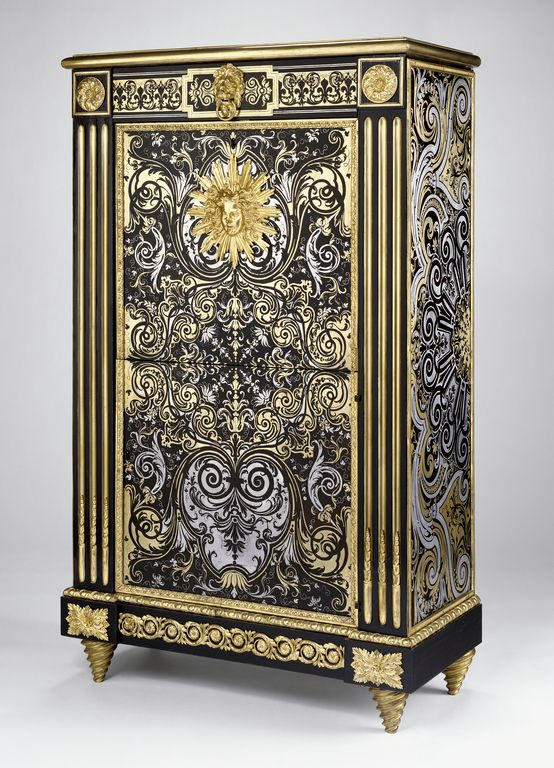 Secrétaire; Philippe-Claude Montigny (French, 1734 - 1800, master 1766); Paris, France; about 1770 - 1775; Oak veneered with bloodwood, tortoiseshell, brass, pewter, and ebony; gilt-bronze mounts.