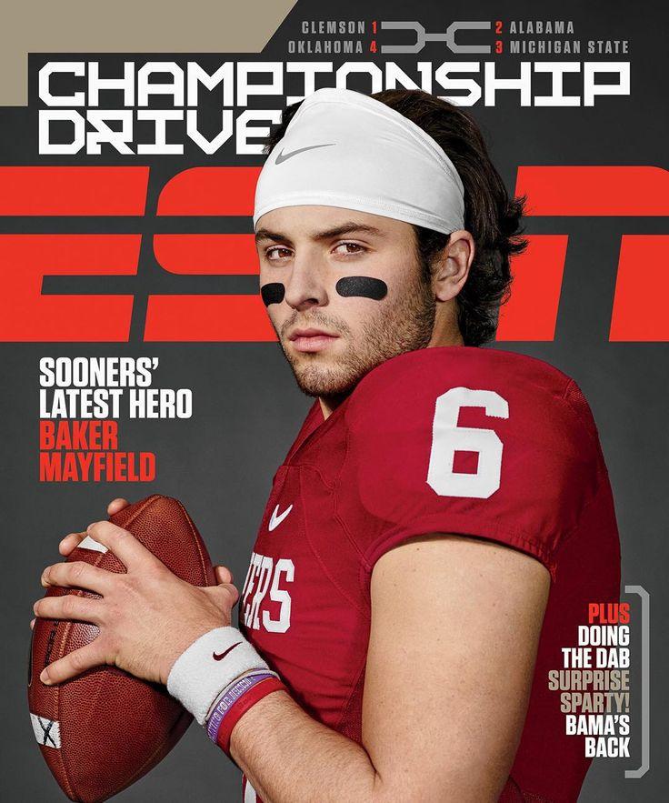 """University of Oklahoma quarterback Baker Mayfield for ESPN The Magazine"""