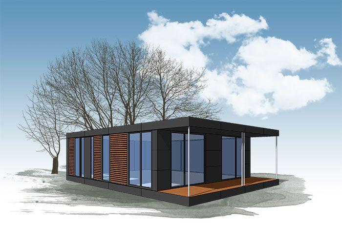 neues wohnen im cubig designhaus minihaus haus pinterest. Black Bedroom Furniture Sets. Home Design Ideas