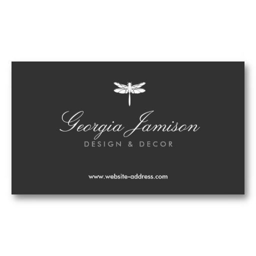ELEGANT TYPE DRAGONFLY LOGO Customizable Personal Business Card Template