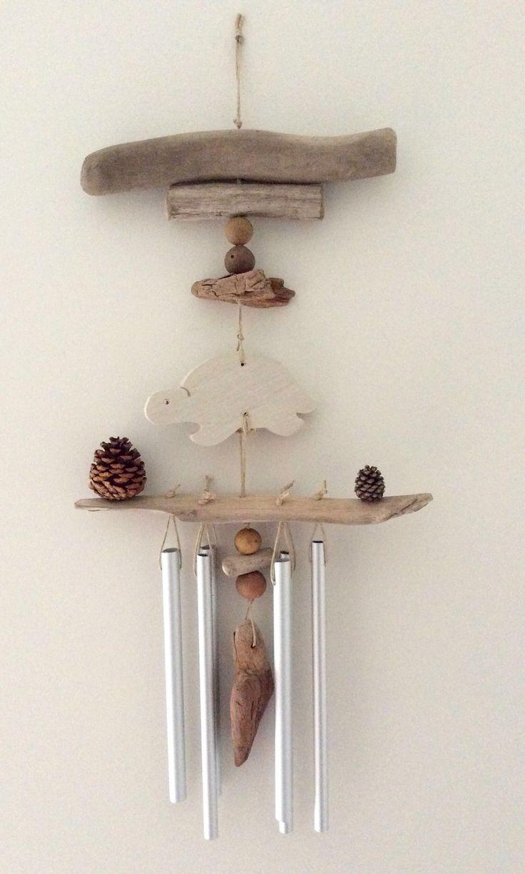 Carillon en bois flotté par l'Atelier de Corinne : Décorations murales par atelier-de-corinne