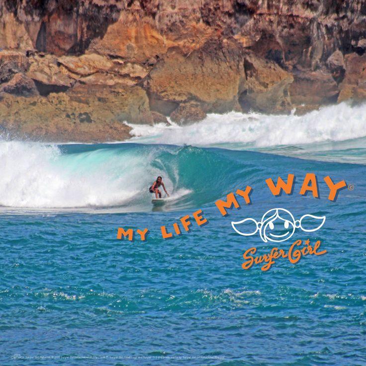 Your waves, your ways <3 ^^ Love, Summer #ilovesurfergirl #mylifemyway #surfing #beach #life #tropical #sport #salinirengganis