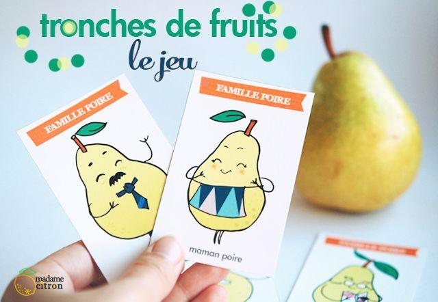 DIY : Tronches de fruits, le jeu des 7 familles imprimable (LES POIRES)