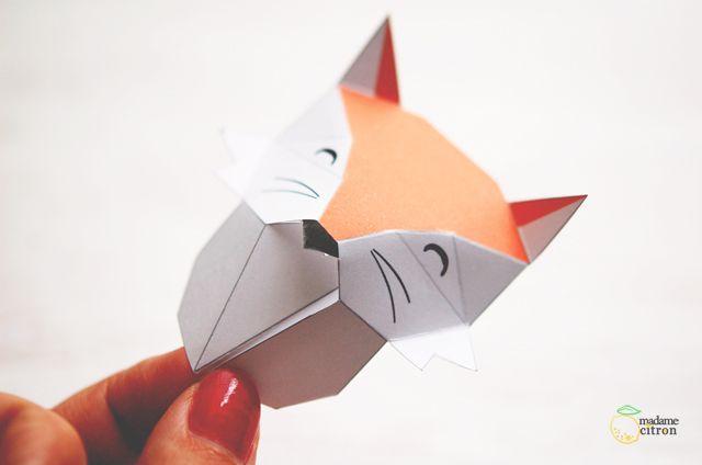 DIY : taxidermiste de papier (trophées en origami)