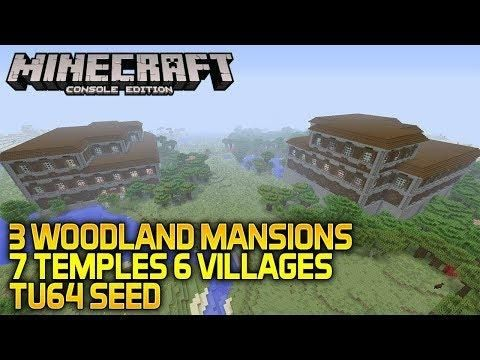 Minecraft Xbox One Ps4 Tu64 Seed 3 Woodland Mansions 7