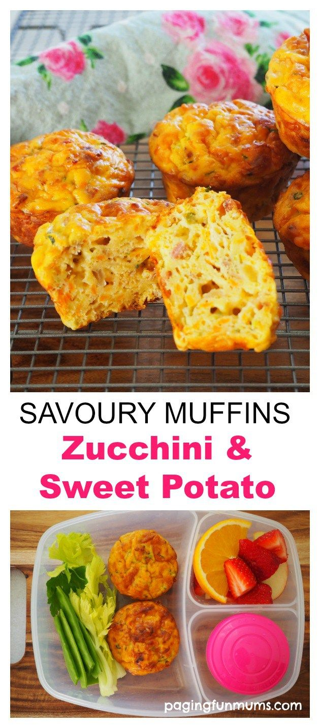 Zucchini and Sweet Potato Savoury Muffins
