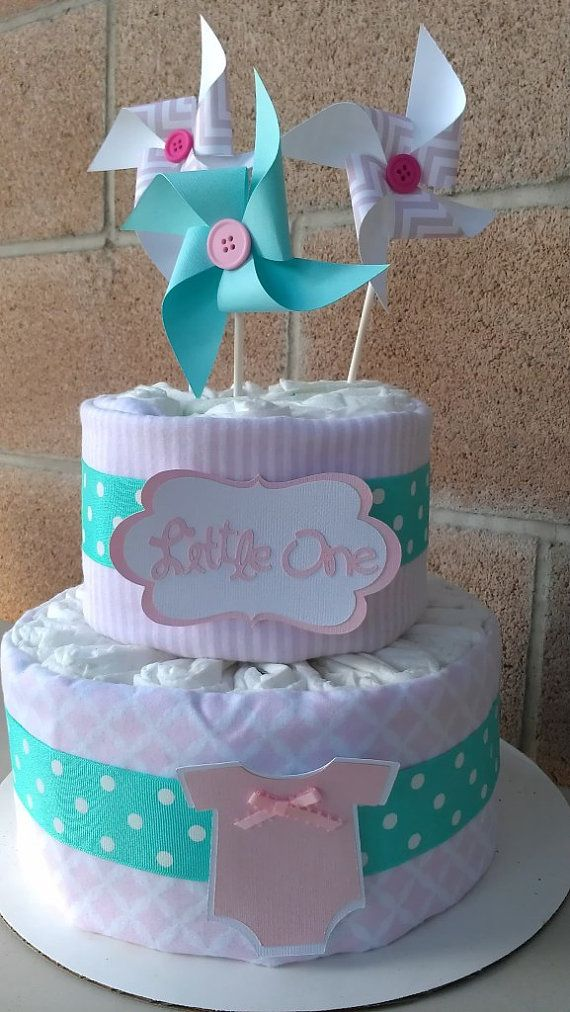 Diaper cake. Pampers Diaper cake. Girl's diaper by SweetBugABoo, $40.00