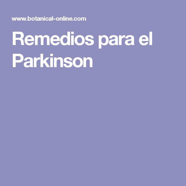 Remedios para el Parkinson