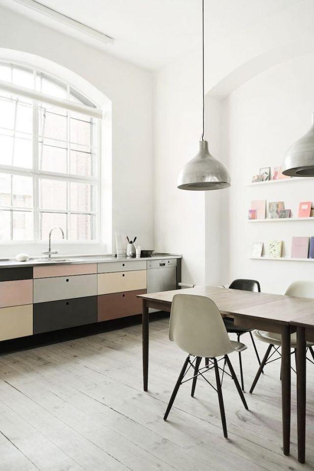 multi coloured cabinetry