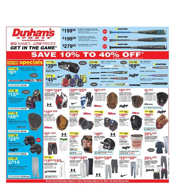Dunham Sports Weekly Circular March 11 - 16, 2017 - http://www.olcatalog.com/dunhams-sports/dunham-sports.html