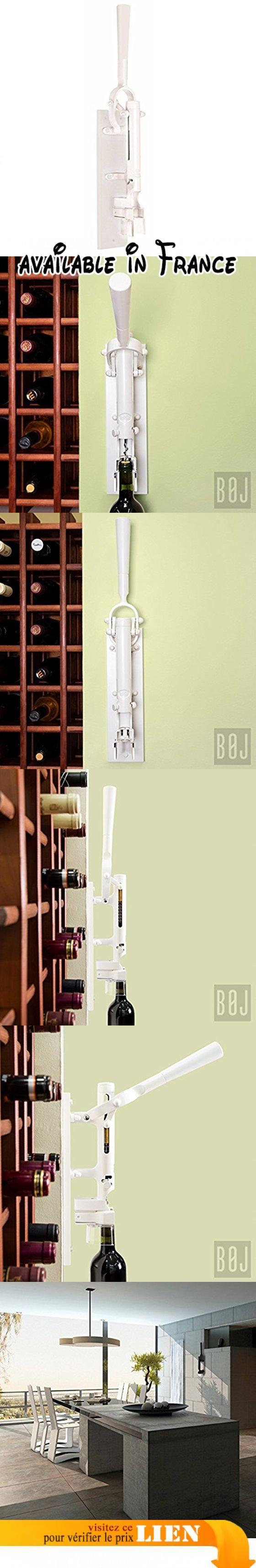Tire-bouchon Professionnel Mural BOJ avec soporte (couleur bordeaux). FONCTIONNEMENT: Le levier de déclenchement mesure 30 centimètres dans le but de maximiser la puissance d'extraction. La hauteur totale du tire-bouchon est de 55 centimètres. Pour lancer le processus il faut placer la bouteille de vin sur le support inférieur. Il n'est pas nécessaire de la soutenir avec la main lors du processus d'extraction du bouchon. Le tire-bouchon mural est conçu et construit