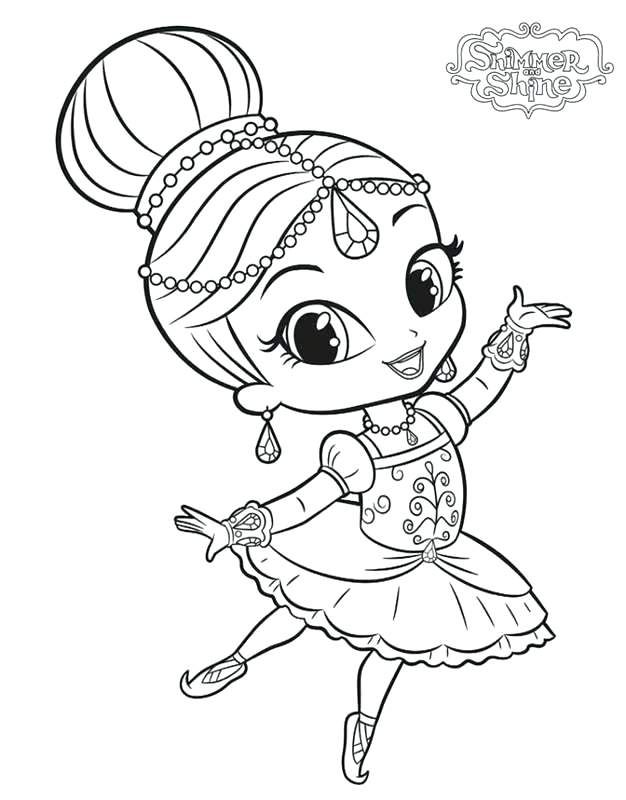 Shimmer And Shine Coloring Pages Printable Dance Coloring Pages