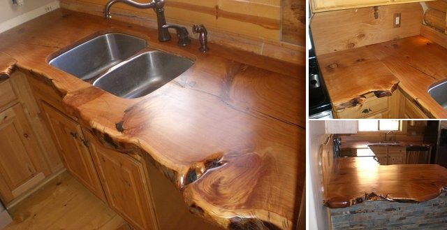 Rustic Countertop For Cabins