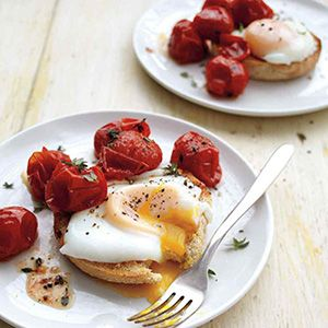 Poached Eggs with Roasted Tomatoes