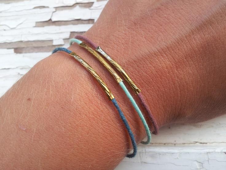 golden tubes bracelet