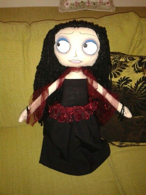 Goth lady doll muñeca