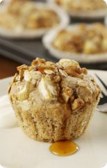 Warm apple maple crumble cakes
