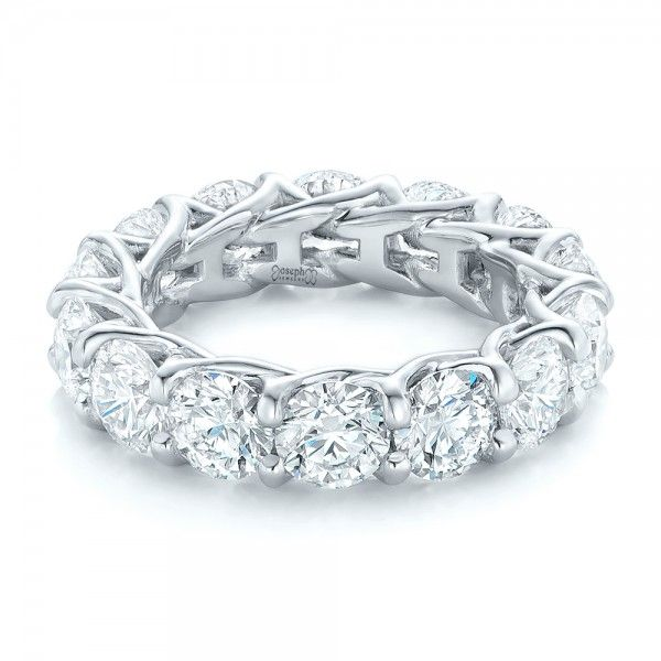 ring carat stone cut anniversary band product round bands diamond