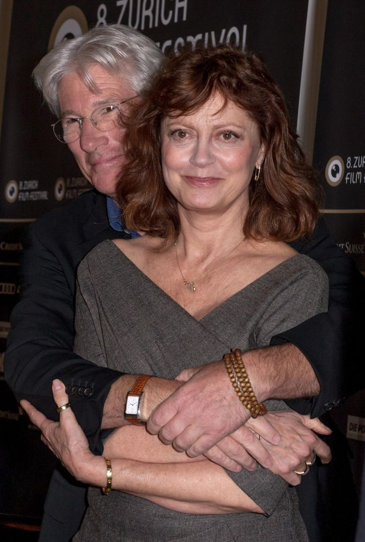 "ARBITRAGE - Susan Sarandon gets a hug from Richard Gere at the premiere of his film ""Arbatrage"" - Publicity Still."