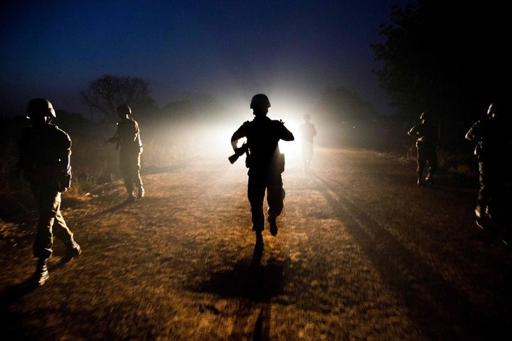 Stunning photo of United Nations peacekeeping troops from Ethiopia patrolled in a disputed, oil-rich territory between Sudan and South Sudan. ABYEI, AT THE BORDER OF SUDAN AND SOUTH SUDAN 12/14/2016. The Year in Pictures 2016 - The New York Times