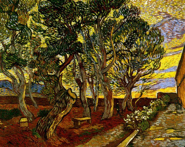 1889 Van Gogh Le jardin de l'asile, The garden of asylum,