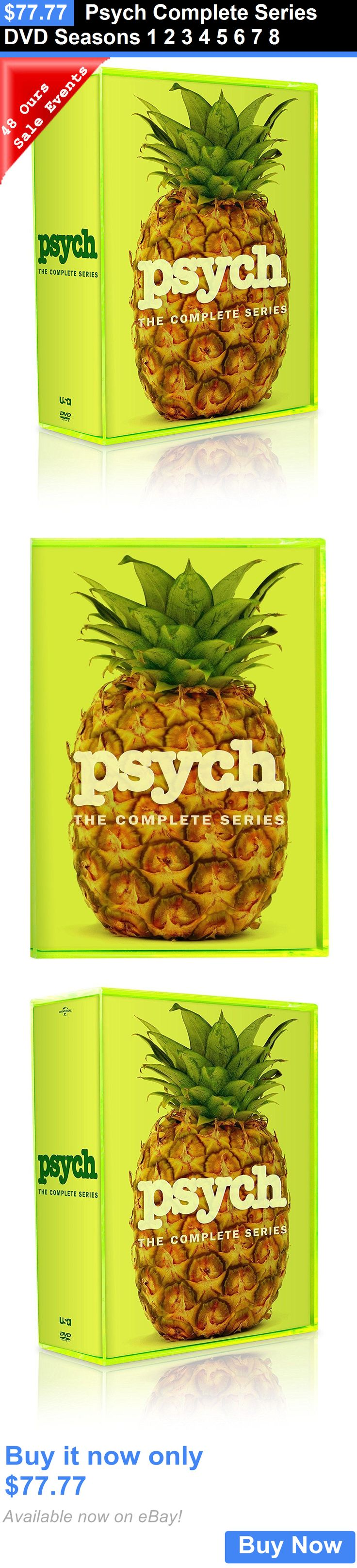 cds dvds vhs: Psych Complete Series Dvd Seasons 1 2 3 4 5 6 7 8 BUY IT NOW ONLY: $77.77