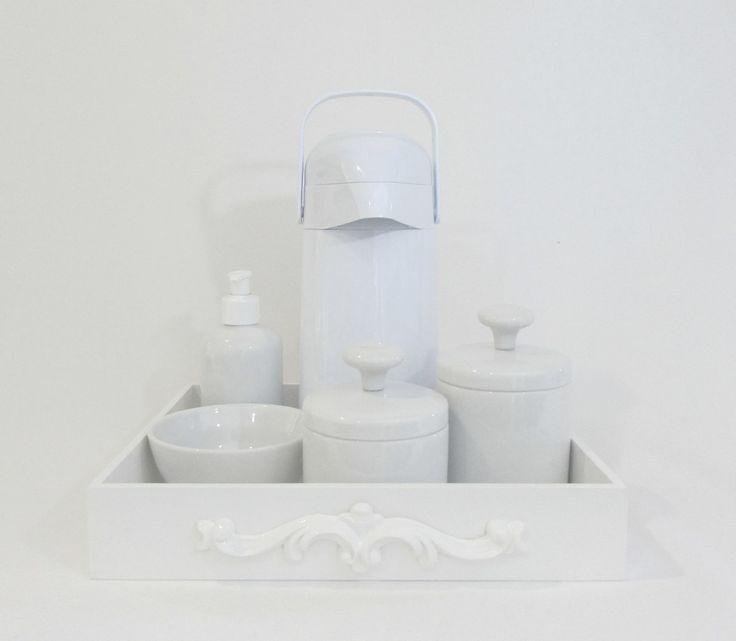 Bandeja 30x25x5 Pote algodão  Pote cotonetes Porta sabonete ou álcool gel Molhadeira Garrafa pump