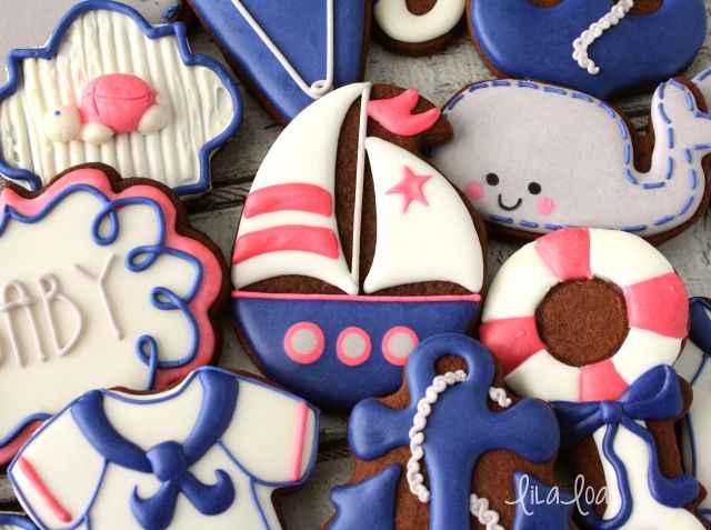 LilaLoa: How to Make Decorated Sailboat Cookies (from an EGG CUTTER!!)