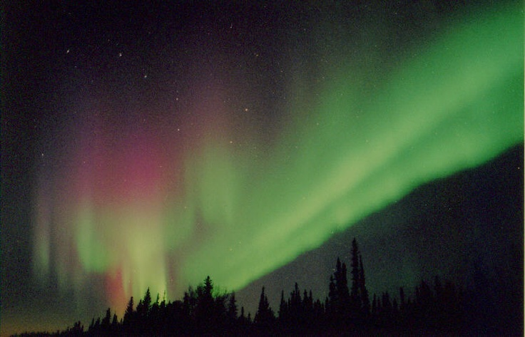 Northern lights, photo taken near High Level.