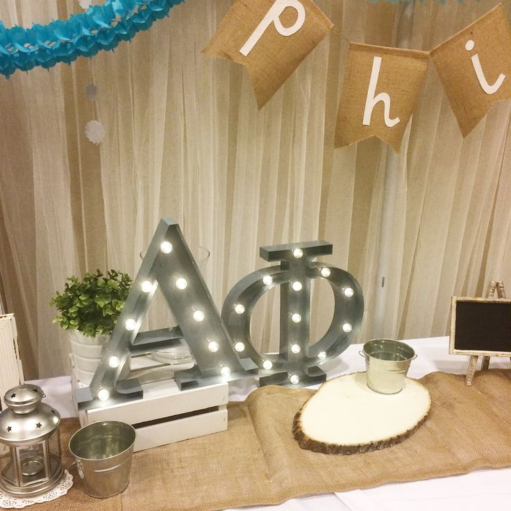 Alpha Phi marquee lights   Recruitment brag table display - sorority must have!