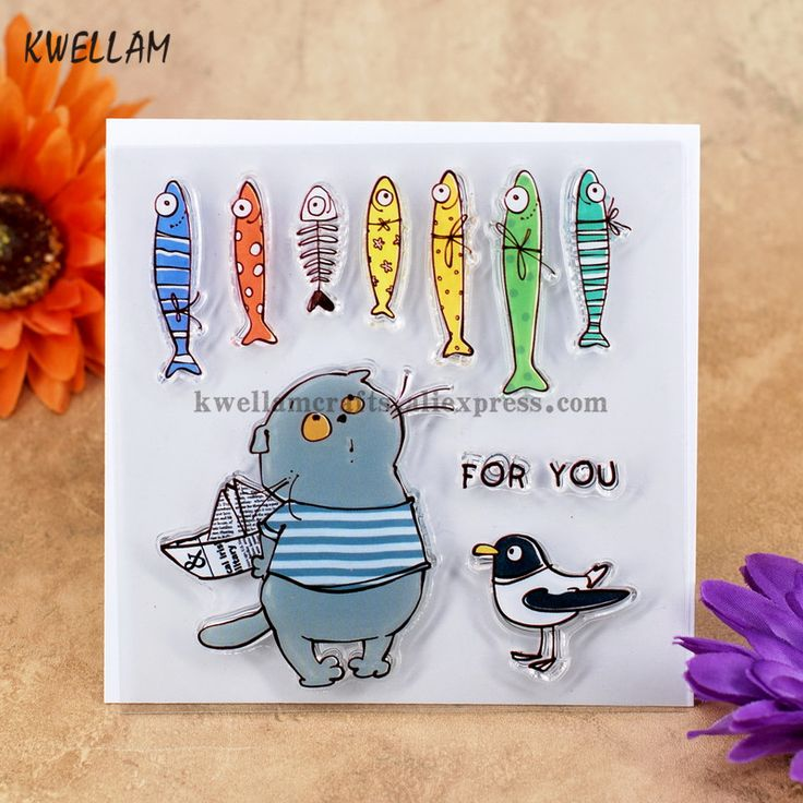 Cheap clear stamps, Buy Quality rubber stamp directly from China transparent stamp Suppliers: FOR YOU Cat Bird Fish Scrapbook DIY photo cards account rubber stamp clear stamp transparent stamp 10.5x10.5cm KW7050414