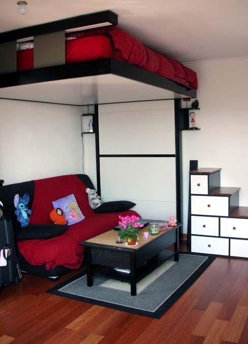 M s de 1000 ideas sobre camas para ahorrar espacio en - Camas para espacios pequenos ...