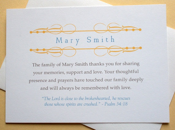 17 best images about How to word Funeral Thank You Cards on – Funeral Thank You Note