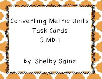 *This product is aligned with the 5th Grade Common Core math standard 5.MD.1. *This focuses completely on the conversion of metric units of length, mass, and capacity (meters, grams, and liters)-Specific units for length include: kilometers, meters, centimeters, millimeters-Specific units for mass include: kilograms, grams, centigrams, milligrams-Specific units for capacity include: kiloliters, liters, centiliters, milliliters*Included in this file are 10 multiple choice metric conversion…