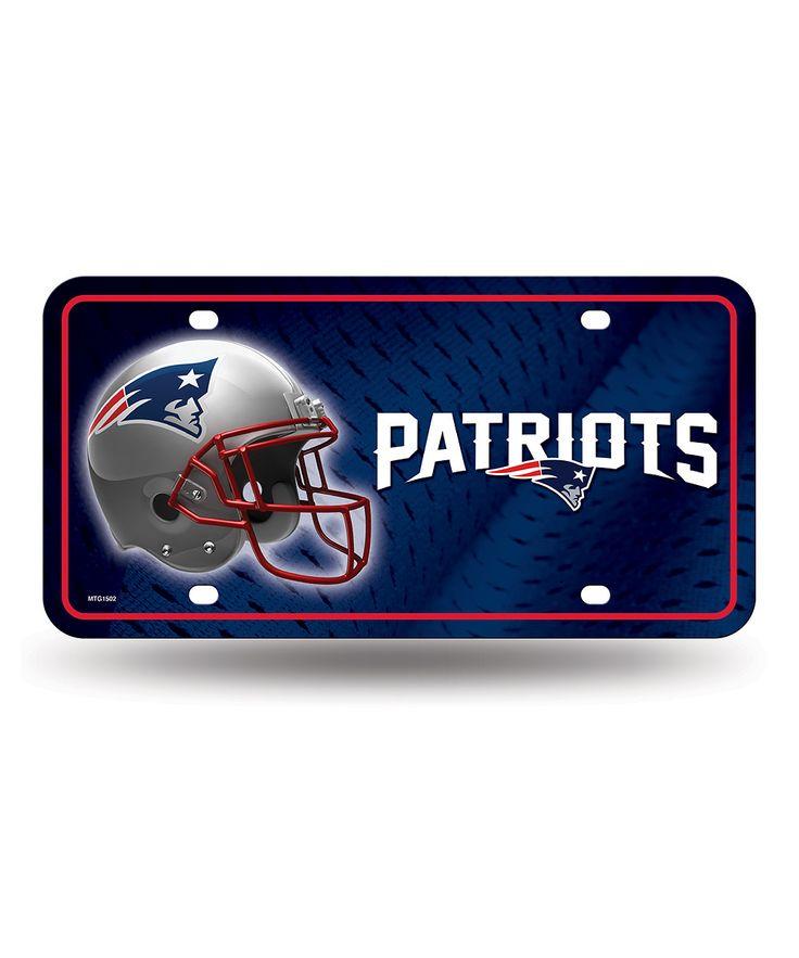 New England Patriots Primary Logo Auto Plate