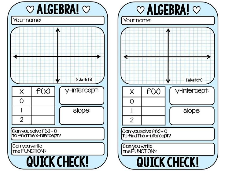 A FREE warm-up template for ALGEBRA 1.