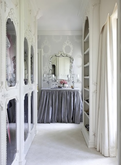 This would be a great dressing area off master bedroom suite. Although, maybe not white.