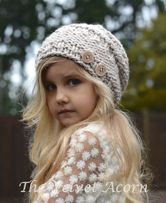 KNITTING PATTERN  Barton Slouchy Toddler Child by Thevelvetacorn