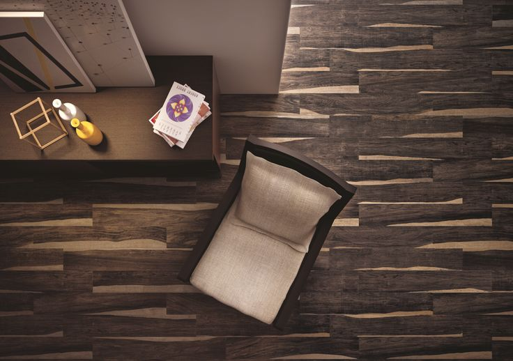 """Can't decide between light or dark wood? You don't have to. Presenting Campani's """"Java"""" collection. #ceramic #tile #MadeInItaly #Cersaie"""