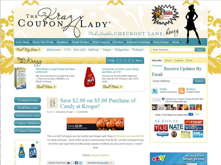 Krazy coupon lady blog