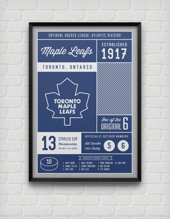Hey, I found this really awesome Etsy listing at https://www.etsy.com/listing/167889797/toronto-maple-leafs-stats-print